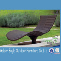 Alumínio Rattan Outdoor Furniture Double Recliner Set