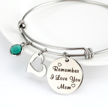 Mother's Day event bracelet 12 birthday stone color diamond for mom gift