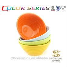 """Оптовая ежедневного использования продукта, 4.5"""" дюймов круглая небольшая керамическая чаша удон"""