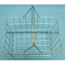 Cozinha sobre a cesta do armazenamento do fio de metal da porta de armário