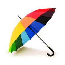 Manual Open Rainbow Printing Straight Umbrella (BD-05)