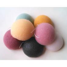 Éponge Konjac en forme de demi-boule avec 9 couleurs
