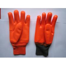 Песчаный отделка пены лайнер зимние перчатки PVC