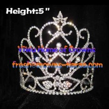 5inch Heart Unique Crystal Queen Crowns