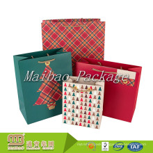 Beautiful Custom Design Colorful Printing Small Christmas Paper Goodie Bags for Kids