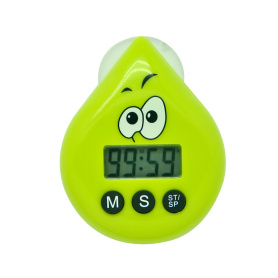 Waterproof shower timer water-drop shape