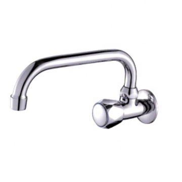 China supplier brass chrome wall mounted bib taps kitchen sink faucets