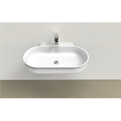 Semi Recessed Wall Hung Small Wash Hand Basin