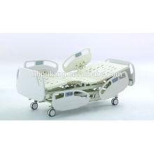 Cama de hospital avanzada de cinco funciones con el sistema de la escala del peso