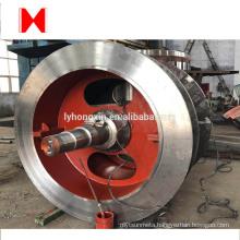 Large roller press grinding rolls