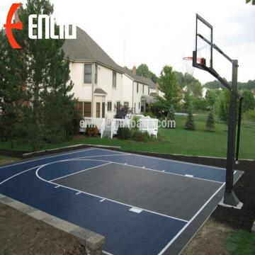 Enlio Outdoor Basketball Sports Suelo PP azulejos de la corte