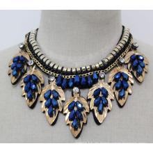 Lady Modeschmuck Blue Bead Kristallhalsband Halskette (JE0138)