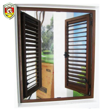 2018 hot sale security luxury jalousie window shutter aluminum wooden louvered windows with AS/NZ2208