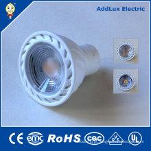 Bulbo branco morno do projector do diodo emissor de luz da ESPIGA de 220V Dimmable 5W Gu5.3
