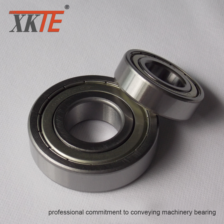 Transportör Idler Parts Iron Shielded Bearing 6204 ZZ