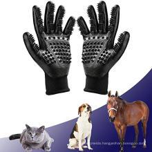 Bathing Brush Tool and Gentle Deshedding Brush Pet Grooming Gloves