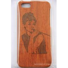 Slick Made Wood Phone Case para iPhone Original Gravado A Laser de Bambu Tampa De Madeira