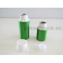 Зеленый металлический алюминий бутылка с белой крышкой доказательства Шпалоподбойки