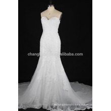 Real pictures Mermaid wedding dress 2016 lace applique Bridal Gown