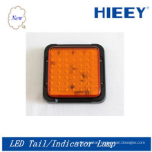 LED Square tail indicator lamp ,high quality 10-30V led tail light for big trucks