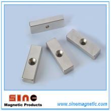 Permanent Neodymium Countersunk Block Magnets