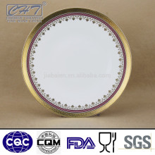 "Fine Bone China 11 ""Cor e em relevo Gold Design Display Plate"