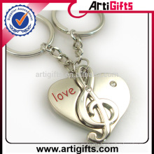 Artigifts good quality metal music note keychain