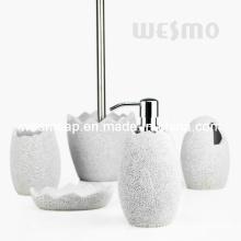 Egg forma de accesorios de baño de poliresina conjunto (wbp0847a)