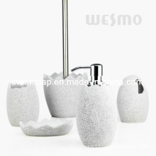 Egg Shape Polyresin Bath Accessories Set (WBP0847A)