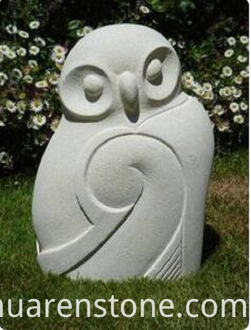 owl stone sculpture