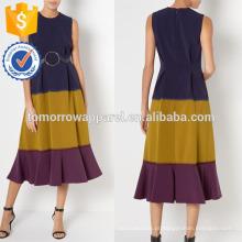 Nova moda tricolor mangas turno dressmanufacture atacado moda feminina vestuário (ta5277d)