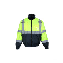 Detachable Fleece Lining Reflective Safety Jacket