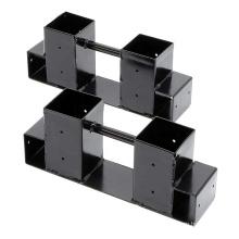 Support de rangement pour bois de chauffage intérieur en métal réglable en hauteur