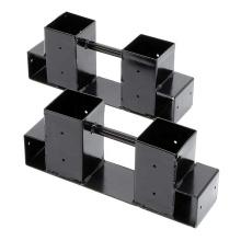 Estante de almacenamiento de leña de metal interior ajustable en altura y altura