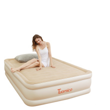 Luxury Microfiber airbed with Built in Pump,Highest End Blow Up Bed,Inflatable Air Mattresses for Guests Home Travel