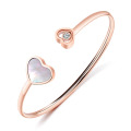 Kustom Rose Gold Double Heart Cuff Bracelet