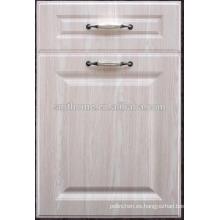 puerta de armario de cocina de MDF de pvc barato