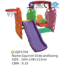 Infant cheap plastic indoor slide with swing set