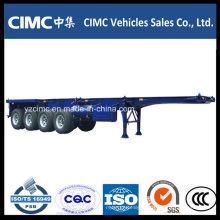 Semi-reboque esquelético Cimc 4 Axle 100 Ton Container