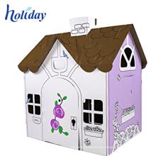 Playhouse corrugado plegable del estante del té de la tela de los niños para los niños
