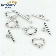 Fashion Design Pearl Jewelry Clasp 925 Sterling Silver Toggle Clasp