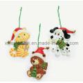 Décoration suspendue de Noël, décoration de pendentif en sapin de Noël