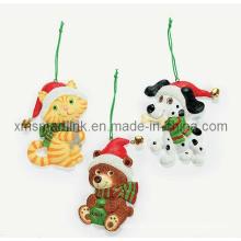 Animales de Navidad Colgante Decoración, Árbol de Navidad Colgante Ornamento