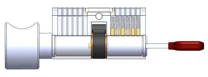 Knob computer key cylinder