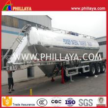 Remorque en vrac de réservoir de ciment de camion-citerne d'alliage d'aluminium semi-remorque