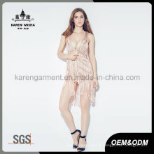 Karen Pink Strickjacke Weste mit Netzrücken