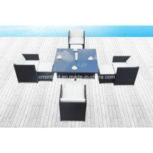 Esstisch & Stühle für Outdoor Wth 4 Fußschemel (8219KD-1)