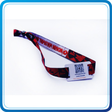 Custom Fabric Wristband with Prnted Own Logo RFID for Music Concert