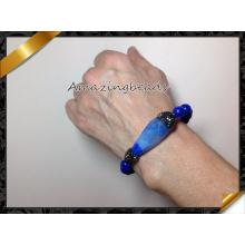 Pulseras azules de la ágata, pulsera caliente cristalina de la manera de la venta (CB021)