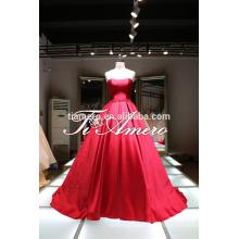 Robe de mariée en robe de haute qualité pour fille pure / nœud coloré nœud coloré Belle robe de mariée moderne sans bretelles pour 2016
